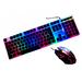 Игровой комплект клавиатура + мышь с подсветкой Jedel COMBO GK100