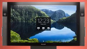 """Моноблок (Видео стена) Microsoft Surface Hub 1597 AIO /на i5- 4590 / 55"""" Full-HD ips + Сенсорный с 2мя WEB камерами с опознаванием лица и движения/ На автоматической подставке."""