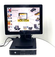 Кассовое рабочее место в Кафе или ресторан: Компьютер  HP8200 uSFF ✅ на i3-2120 + Монитор ELO  ЕТ1517L TOUCH ✔ Gorilla Glass