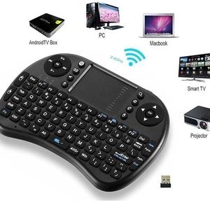 Беспроводная клавиатура с подсветкой и тачем для Smart TV, ПК, планшета
