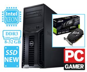 Игровой DELL T110 v2 / ✅ Xeon E3-1240V2 (аналог i7 3го поколения)✔, 4 Ядра 8потоков 3,8-3,8ГГЦ / Новая ✅ Видеокарта GeForce GTX1050 Ti 4096Mb