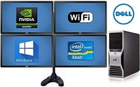 Графическая станция двухпроцессорная ⭐ Dell Precision T7500 2х Xeon5660 6ядр по3,2ГГц / ОЗУ 24 / Новый SSD 240 + 2Х HDD 500GB /+ видеокарта на выбор