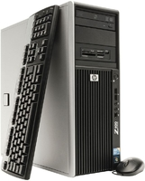 Сервер HP Workstation z400 / Xeon W3503 2.4 GHz / 8 GB / 2x 500 GB для RAID / NVIDIA Quadro NVS 295