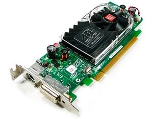 Бюджетная видеокарта ATI Radeon HD 3450 (ATI-102-B62902(B)) для подключения 2-х мониторов с переходником DMS 150 в комплекте