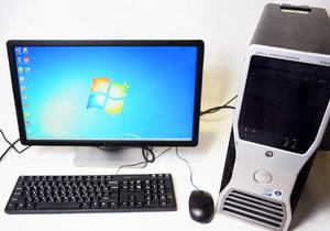 "DELL T3400 /C2Quad Q8300 2.5 / RAM 8 / HHD SAS 160 / nVidia Quadro FX1700 + монитор 21.5"""