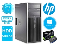 Игровой системный блок HP ELITE Compaq 8300 / i5-3470 (3.2 ГГц) / ОЗУ 8 / SSD120 + HDD500 GB USB 3.0 / GeForce1030 2GB