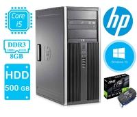 Игровой системный блок HP ELITE Compaq 8300 / i5-3470 (3.2 ГГц) / ОЗУ 8 / SSD120 + HDD500 GB USB 3.0 / GeForce1030 2GB