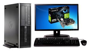 """Игровой Комплект компьютера HP Compaq 8200 ELITE sff на i5 -2400 и GeForce GT 710 + монитор 24"""" HP Z2440 на ips  + мышь, клавиатура"""