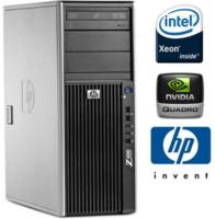 Серверный системный блок HP Workstation z400 / Xeon 4 Ядра E5606 / 8 GB / 120SSD + HDD 500 GB / NVIDIA Quadro NVS 290