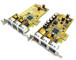 Dell 1 X 24v and 2 X 12v Powered USB Pci-e Low Profile Card Pub1200xl POS